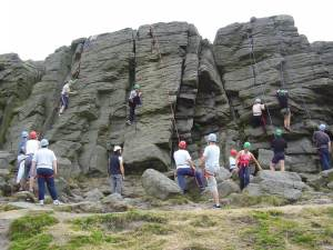 Climbing in the Peak District
