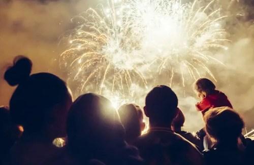 Large Garden Fireworks Display