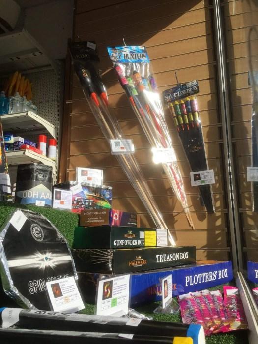 Fireworks shop display