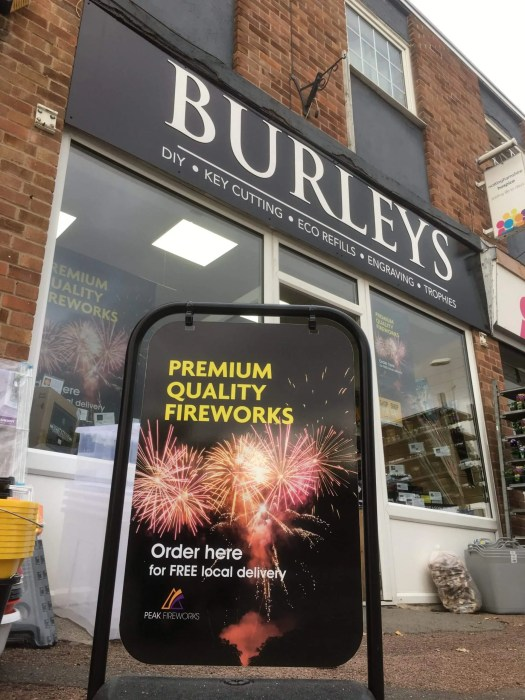 Firework shop sign