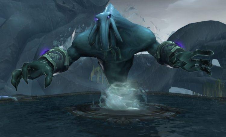 Aqu'sirr's boss model in the Shrine of the Storm