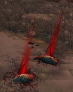Cragmaw's Blood Tick Larvae in the Underrot