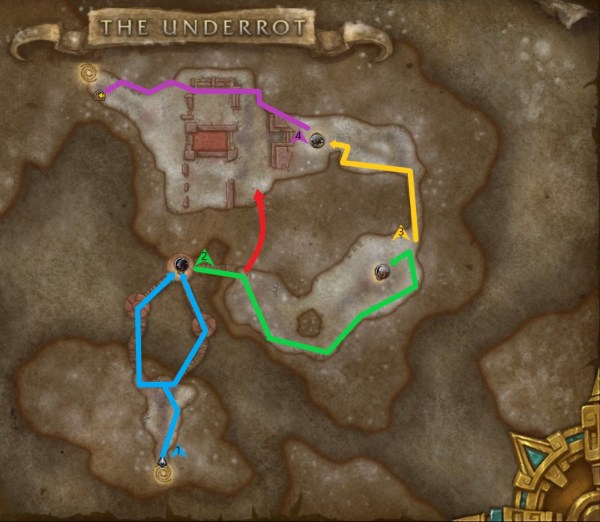 An optimal route through the Underrot dungeon