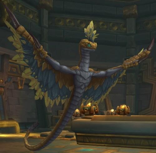The Golden Serpent's boss model in King's Rest