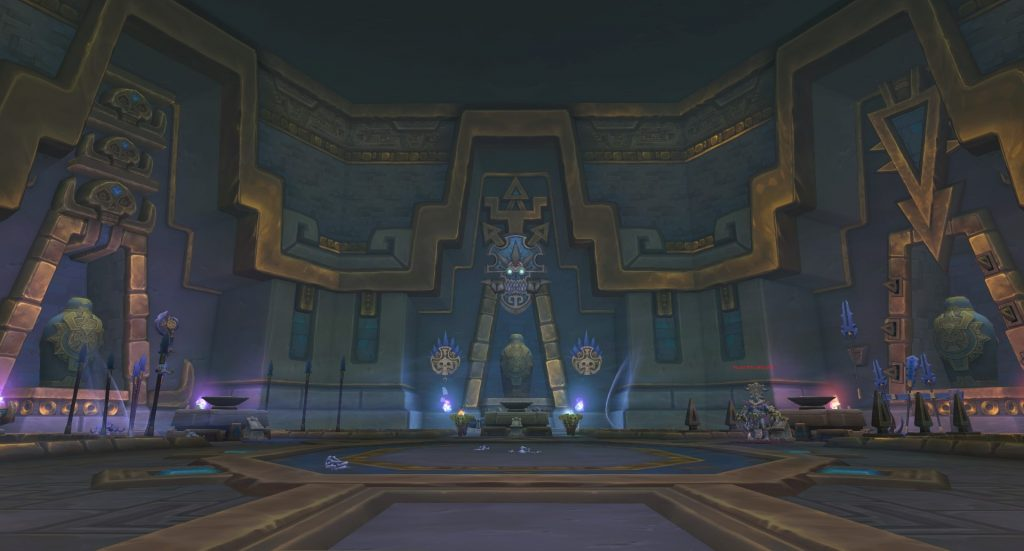 The encounter area of the Council of Tribes in the dungeon King's Rest