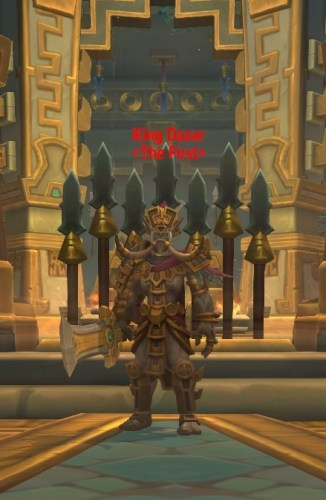 Dazar, the First King's boss model in the dungeon King's Rest