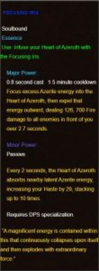 An example DPS-only Heart of Azeroth Trait