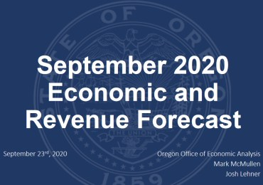 Oregon Experiencing Strong Economic Growth, Blockbuster Tax Collections