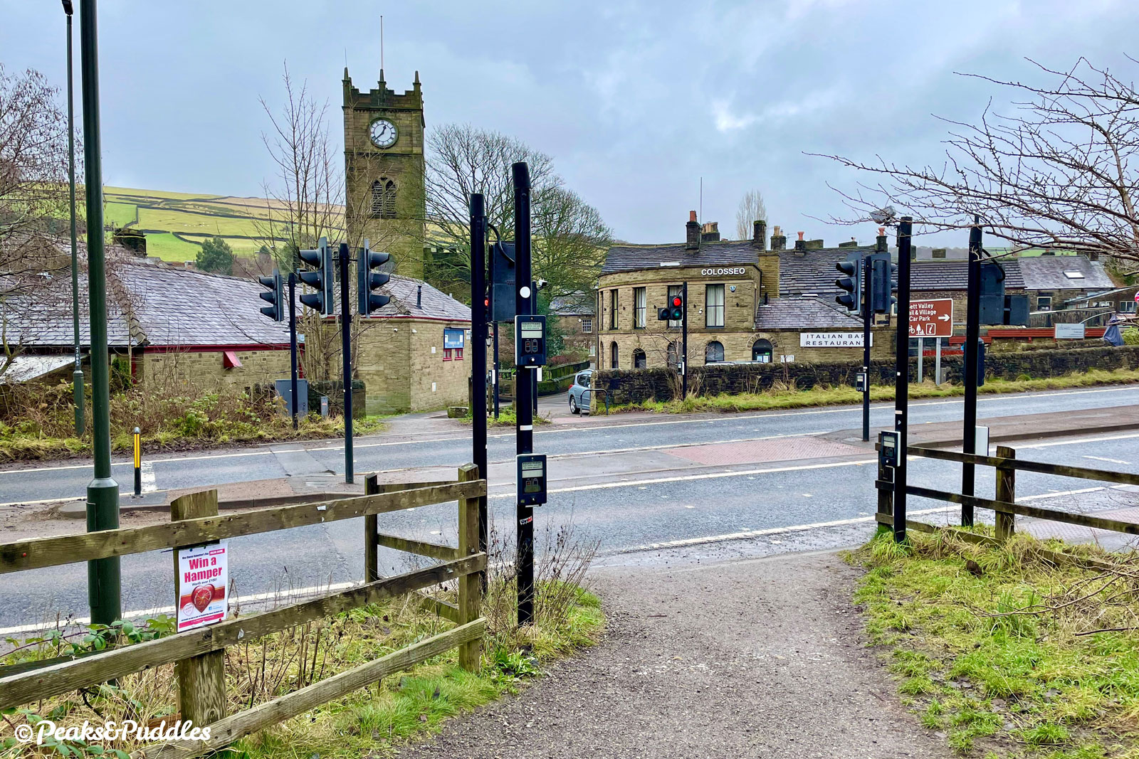 At the A624, a Pegasus crossing gives easy access into Hayfield village, part of the Pennine Bridleway.