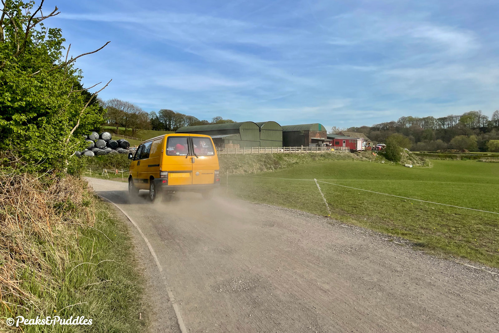 It's worth noting this is not an entirely traffic-free route: vehicles can be encountered on the farm tracks and are not always willing to give much space.