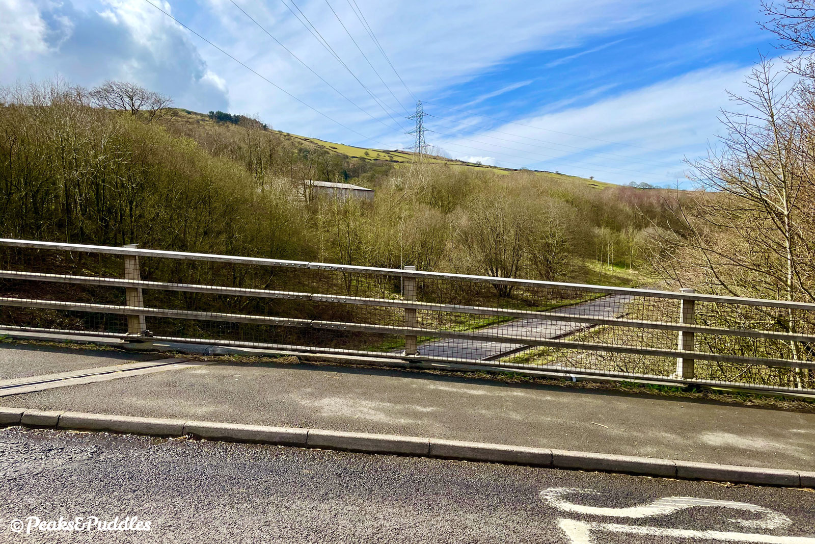 Looking over the Chapel Bypass from Whitehough Head Lane bridge.