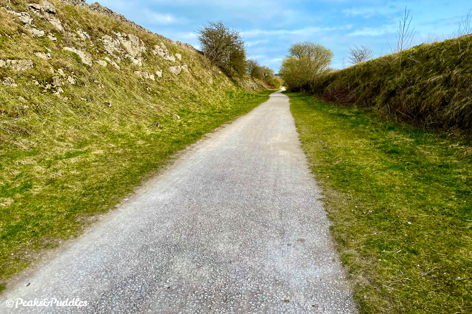 The much quieter northerly stretch of the High Peak Trail seems to be lacking a smoother top surface like the rest.