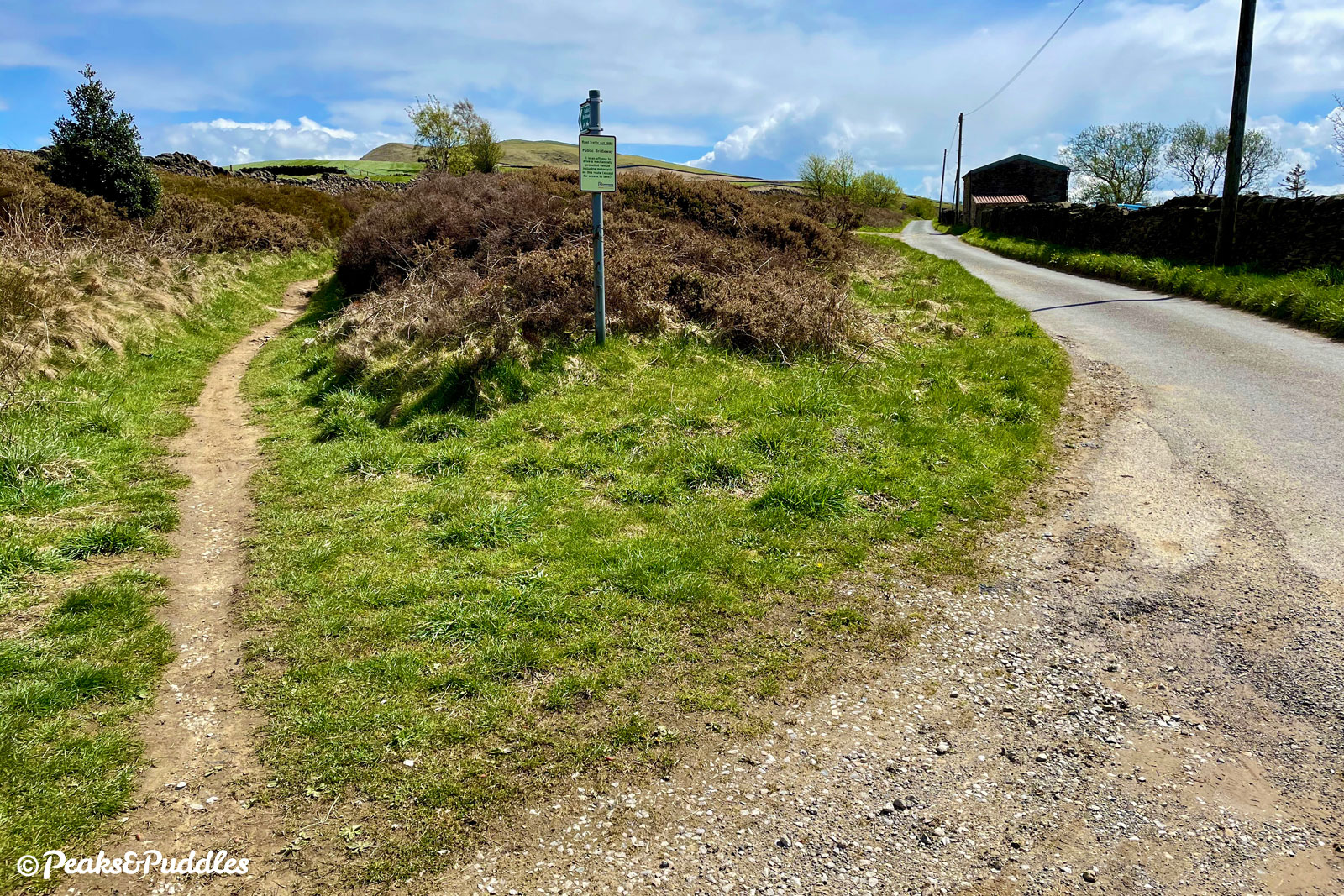 (Bridleway option) Ignore the first, narrow bridleway access and continue just slightly ahead to the next wider track on the left.