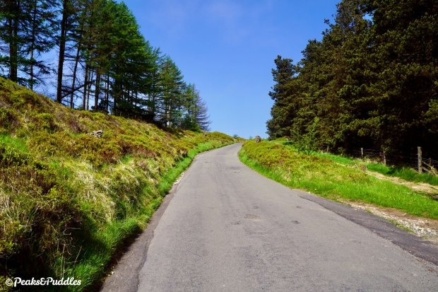 Climbing The Street to Pym Chair, from the forests out onto the open moors.
