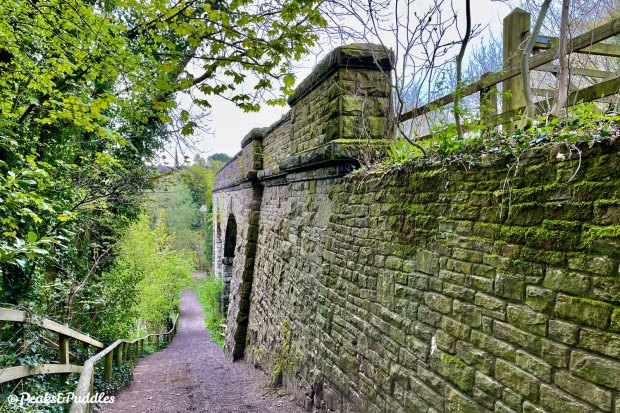If it weren't for campaigners winning the retention of the huge Bollington Viaduct and access over it, the trail would've been massively severed by the River Dean.