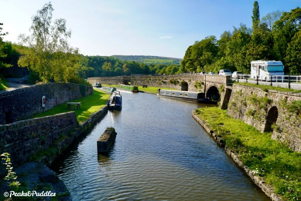 """The middle basin at Bugsworth. The surrounding village changed its name to Buxworth in 1930 to evoke a more regal feel — but the basin remains """"Buggy""""."""