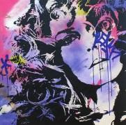 la borgne est une peinture streetart par peam's streetartiste et artiste urbain
