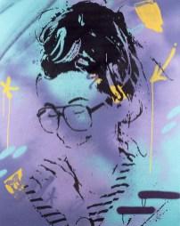 la timide est une peinture streetart par peam's streetartiste et artiste urbain