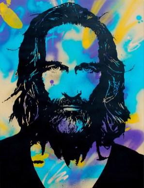 le barbu est une peinture streetart par peam's streetartiste et artiste contemporain