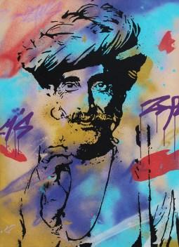le berger est une peinture streetart par peam's streetartiste et artiste urbain pop art