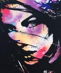 l'envolée est une peinture streetart par peam's streetartiste et artiste urbain pop art