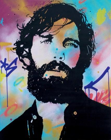 l espagnol est une peinture streetart par peam's streetartiste et artiste urbain pop art