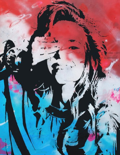 marie anne est une peinture streetart par peam's streetartiste et artiste urbain pop art