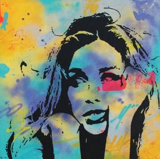 tête en l'air est une peinture streetart par peam's artiste urbain et streetartist