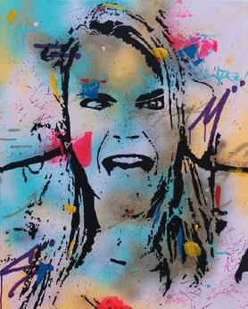 Out of control est une peinture streetart par peam's streetartiste et artiste urbain