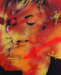 Marie-lou est une peinture streetart par peam's streetartiste et artiste urbain