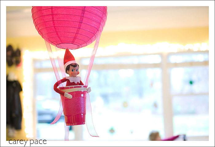 33 creative elf on the shelf ideas for Elf on the shelf balloon ride