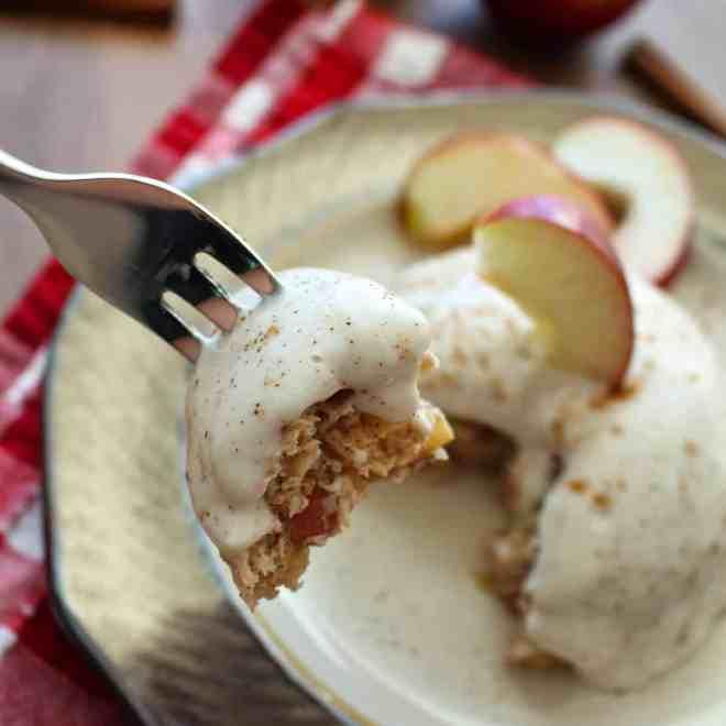 Caramel Apple Protein Mug Cake