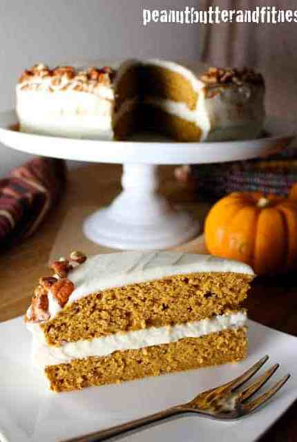 Pumpkin Protein Cake with Cream Cheese Frosting
