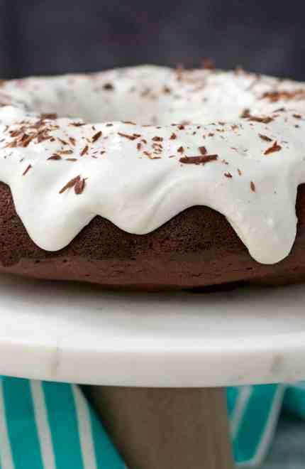 Paleo Chocolate Protein Bundt Cake