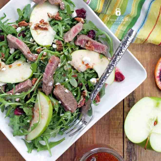 Arugula Steak Salad with Citrus Vinaigrette
