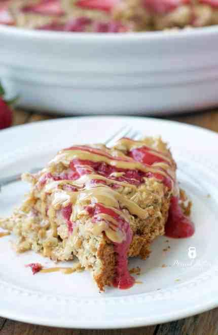 PB&J Oatmeal Bake