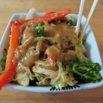 Vegetable Stir Fry with Peanut Sauce