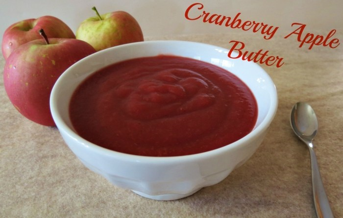 Cranberry Apple Butter
