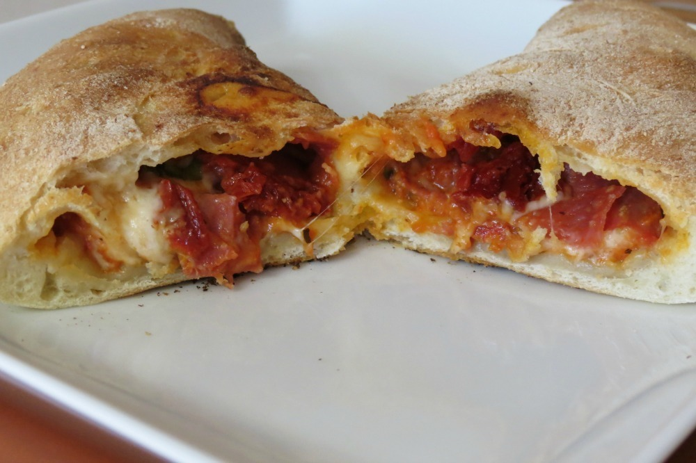 Sopressata And Genoa Salami Calzones Peanut Butter And Peppers