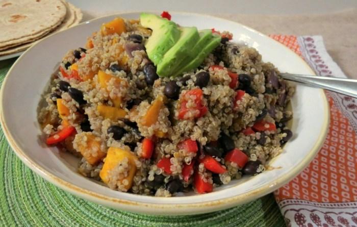 quinoa buttrnut squash and black beans 013a