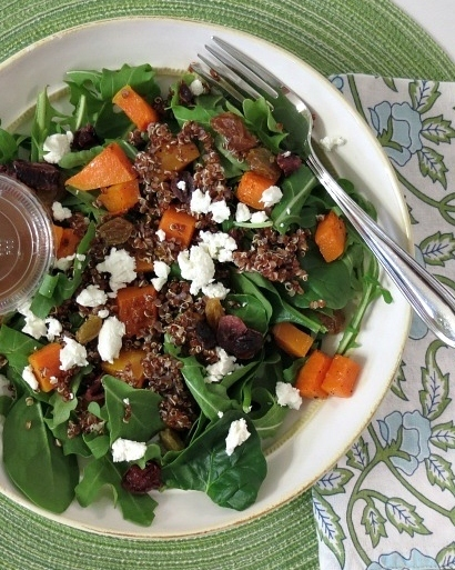 Roasted Butternut And Quinoa Salad With Honey Balsamic