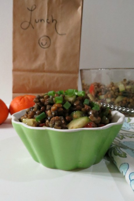 Cucumber and Tomato Lentil Salad
