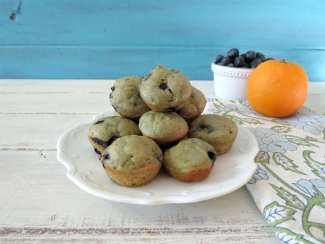 Mini Blueberry Orange  Muffins