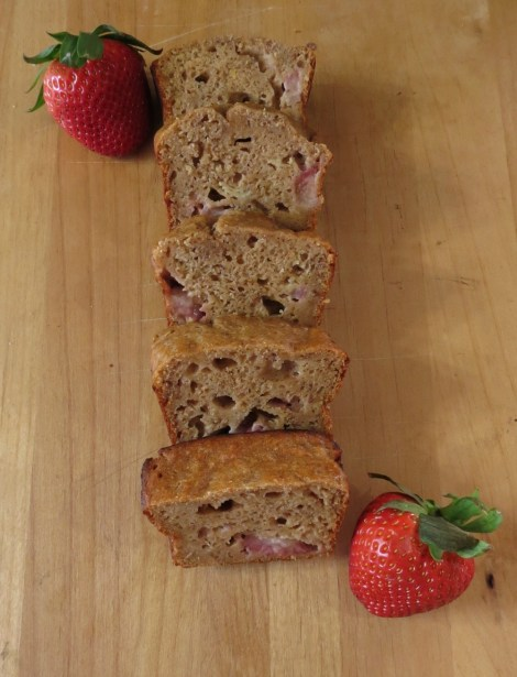 Peanut Butter Banana Strawberry Bread