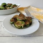 Oven Roasted Brussels Sprouts with Balsamic Glaze