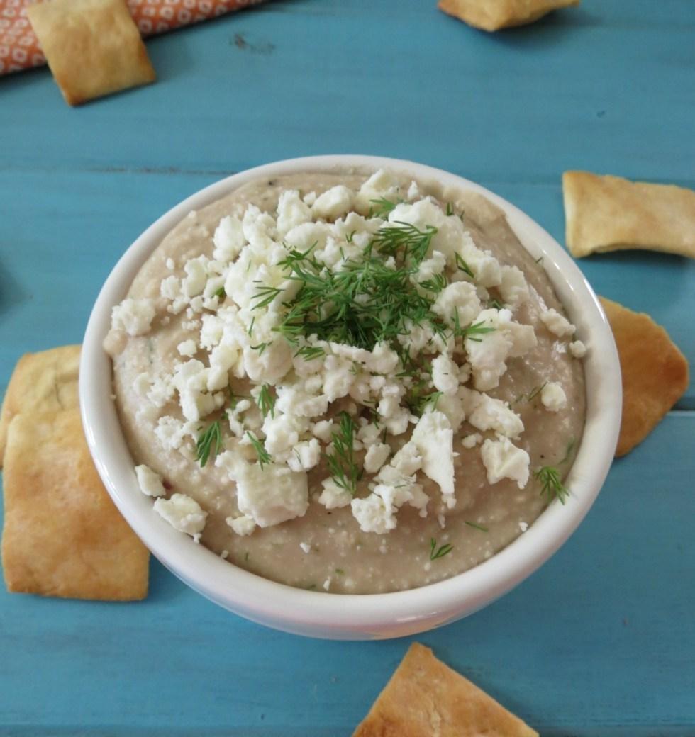 Garlicky Feta White Bean Hummus
