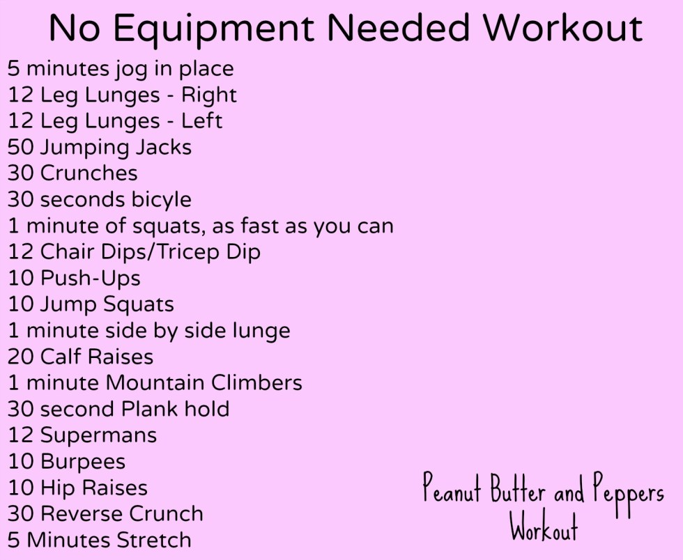 No Equipment needed Workout