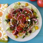 Yum Yum Wednesday  – Cucumber and Tomato Summer Time Salad