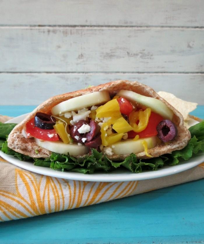 Greek Vegetarian Pita