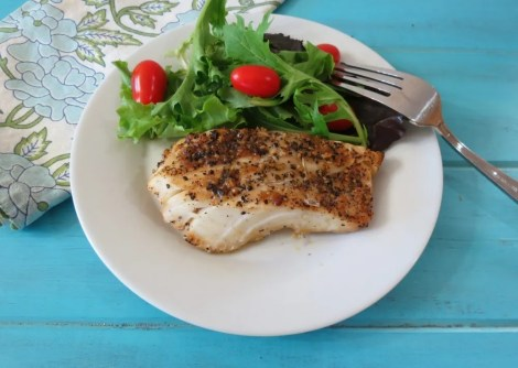 Lemon Pepper Grilled Cod